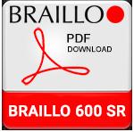 Braillo 600 SR Braille Printer Brochure