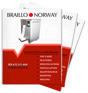 Request A Braillo Braille Printer Pricing and Information Packet