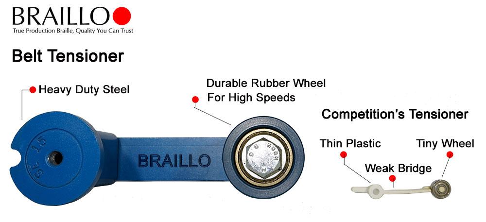 Braillo braille embosser steel tensioner