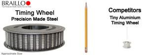 Braillo Embosser all steel timing wheel