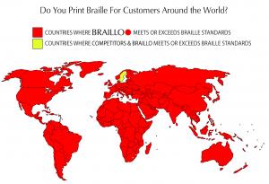 Braillo Meets Braille Standards Around the world