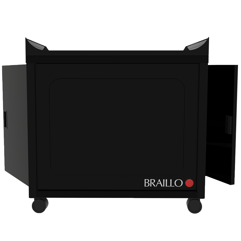 Braillo-S2-Braille-Printer-Stand-open