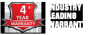 Braillo 4 year Industry Leading Warranty